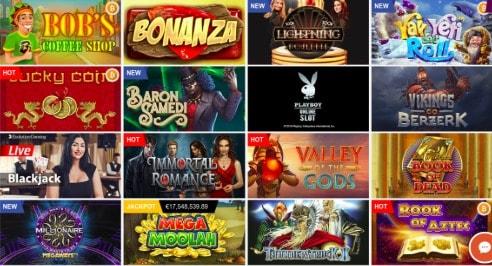 PlayAmo casino review - slots