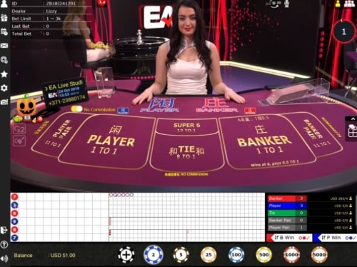 Baccarat at Live Casino House