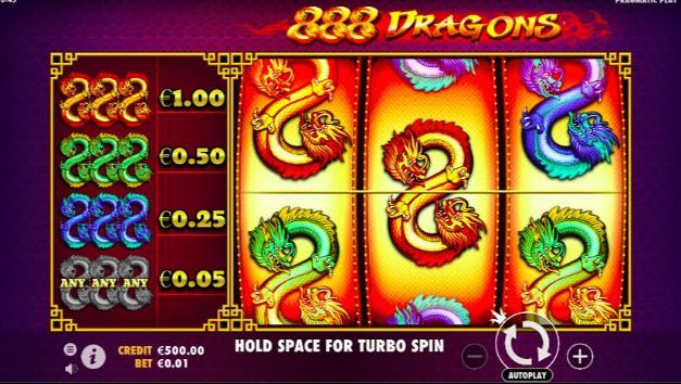 888 Dragons slot game at SlotV