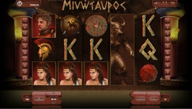Minotaur slot game at SlotV