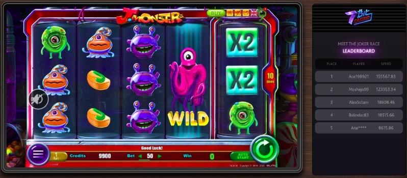 Monsters Slot at 7Bit Casino