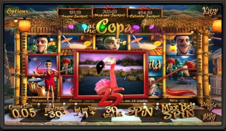 At The Copa Slot at 7Bit Casino