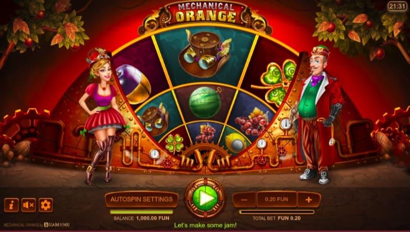 Mechanical Orange Slot at Oshi Casino
