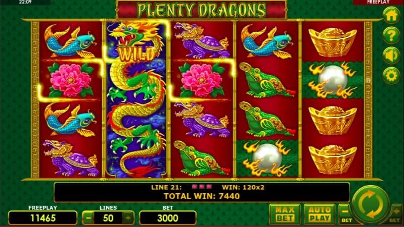 Plenty Dragons Slot at Oshi Casino