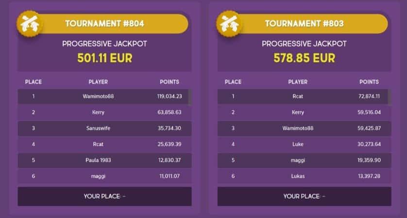Jackpots and Tournaments at Gunsbet casino