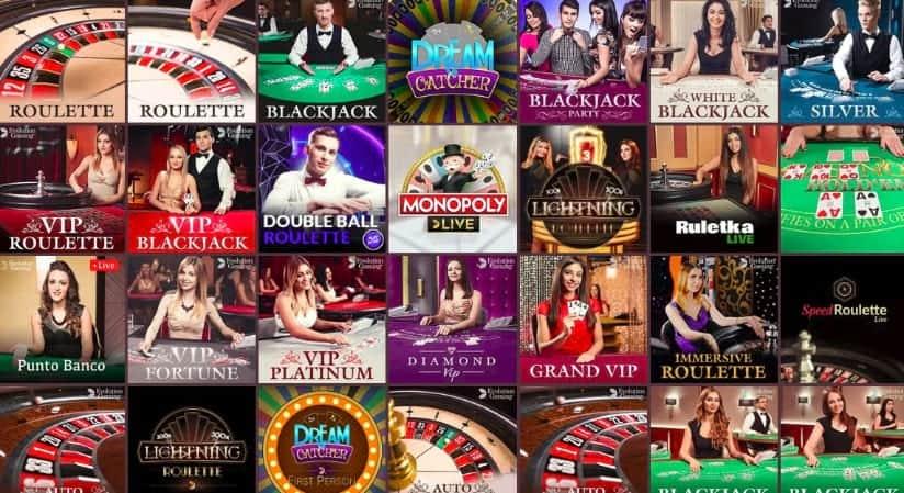 Live dealers section at Gunsbet casino