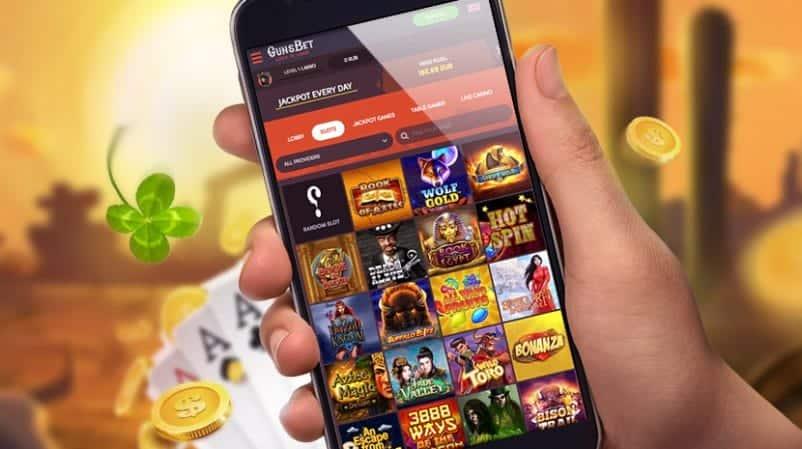 Gunsbet casino - playing on mobile