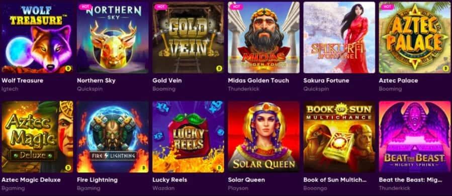 Slots Selection at Bao Casino