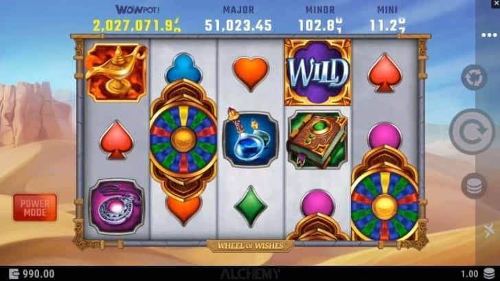 JackpotCity คาสิโนรีวิว - Wheel of Wishes