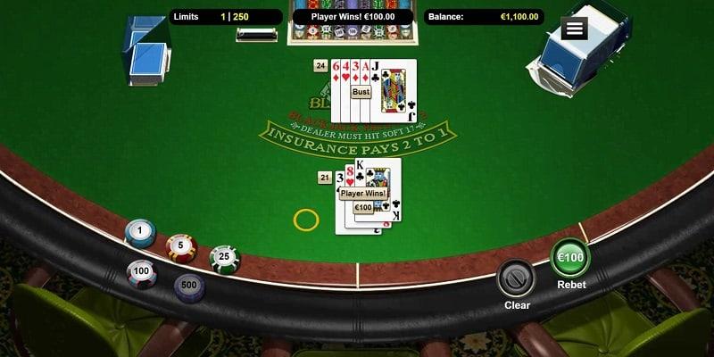 Blackjack Game at Slots Hall Casino