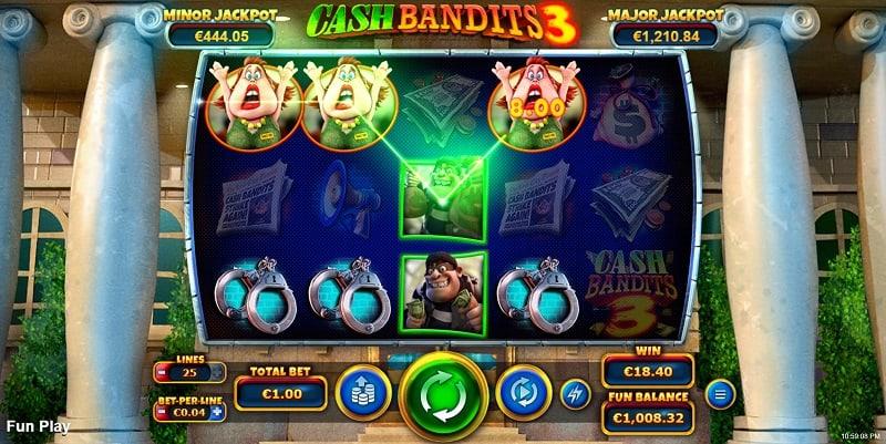 Cash Bandits 3 Slot by RTG at Slots Hall Casino