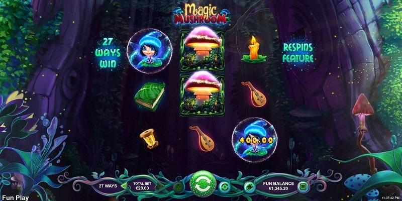 Magic Mushroom Slot by RTG at Slots Hall Casino