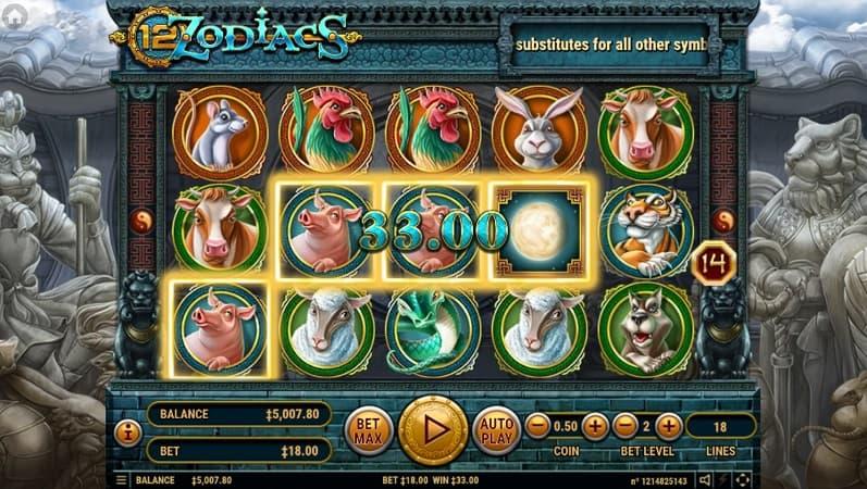 12 Zodiacs Slot by Habanero at Bitkingz Casino