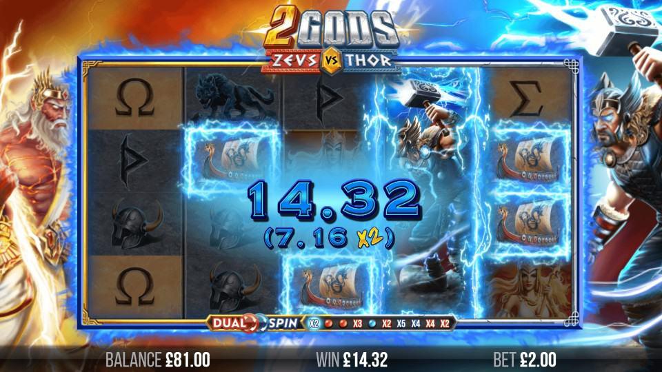 2 Gods Zeus vs Thor by Yggdrasil - Bitkingz Casino
