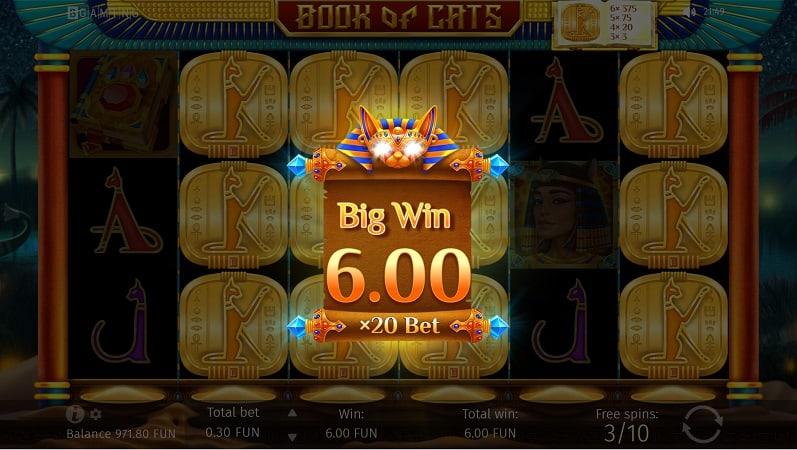 Book of Cats Slot by BGaming at Bitkingz Casino