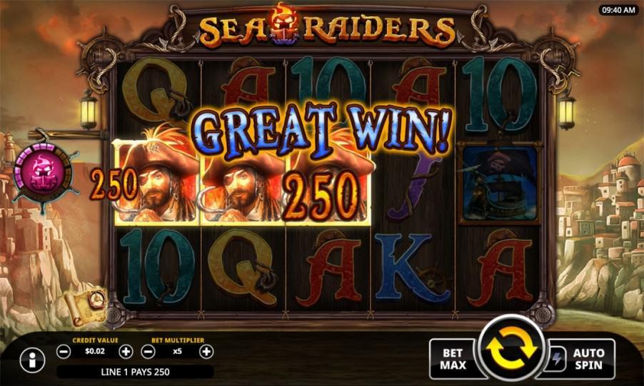 Bitkingz Casino Review - Sea Raiders Slot by Swintt