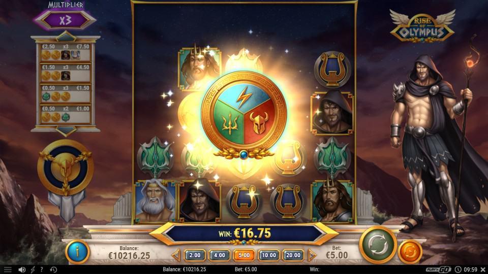 Bitkingz คาสิโน - Rise of Olympus สล็อต โดย PlayNgo