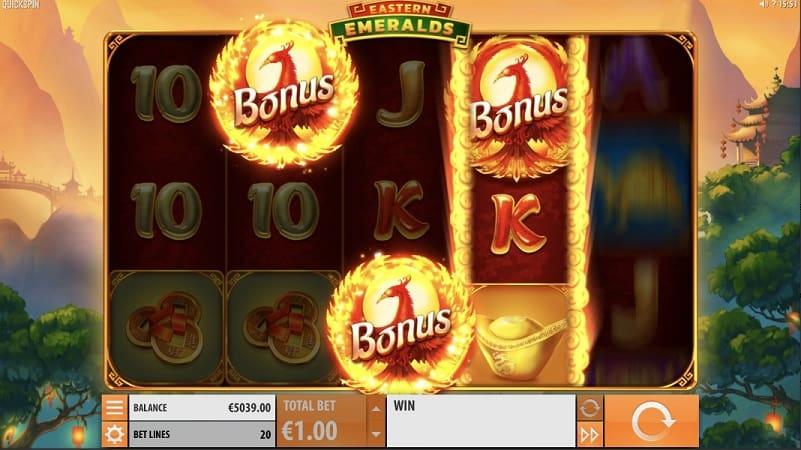 Eastern Emeralds Slot by Quickspin at Kim Vegas Casino