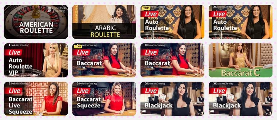 Live Casino Section - Kim Vegas Casino Review