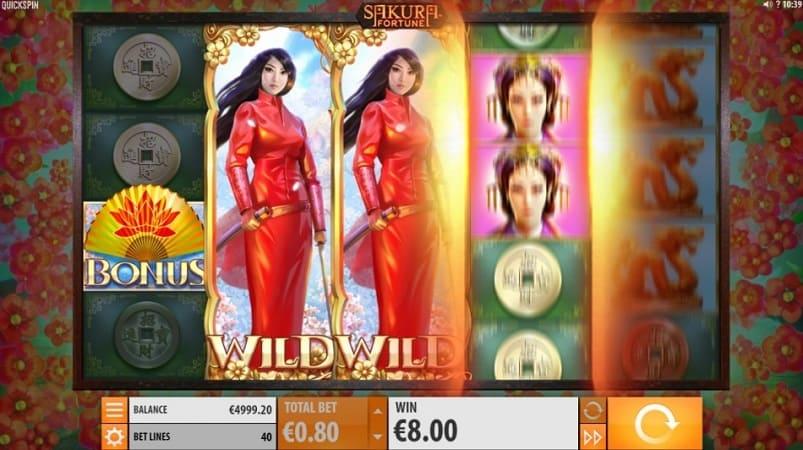 Sakura Fortune Slot Game by Quickspin - at Kim Vegas Casino
