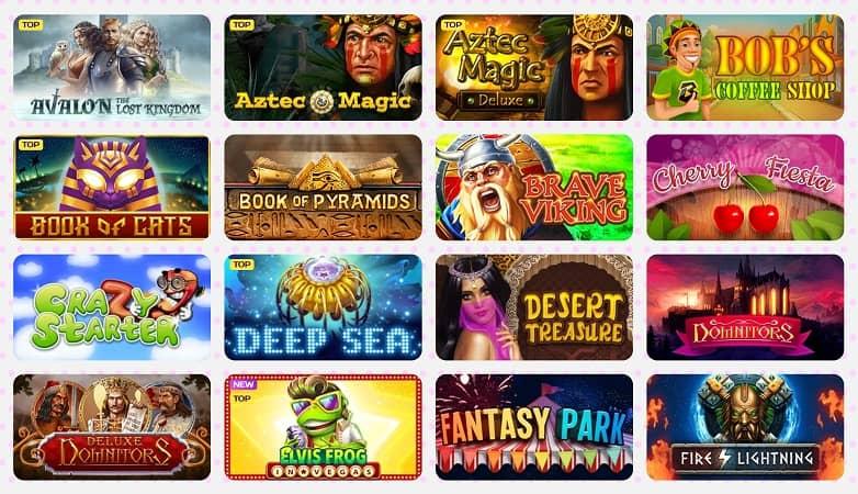 Slots Games Section at Kim Vegas Casino
