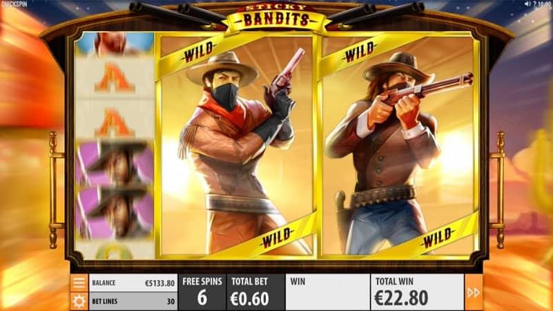Sticky Bandits Slot by Quickspin at Kim Vegas Casino