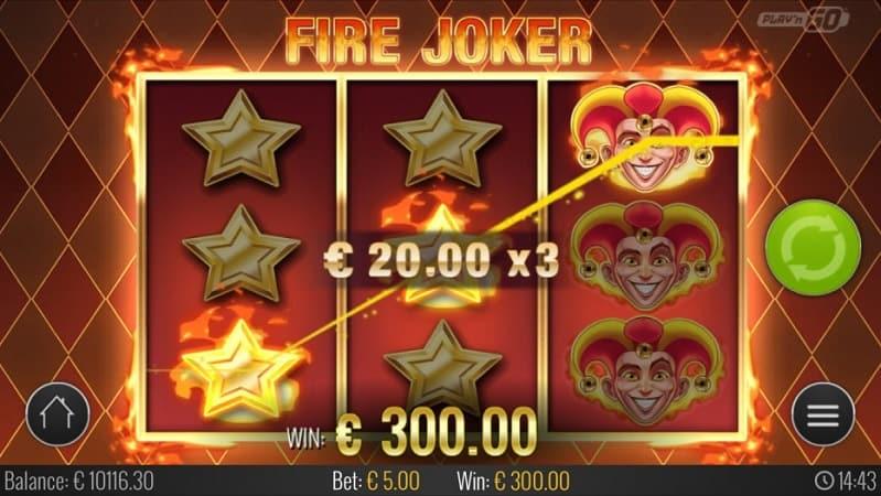 Fire Joker สล็อต โดย PlayNgo ที่ Lucky Days คาสิโน